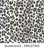 leopard print seamless pattern   Shutterstock .eps vector #398127481
