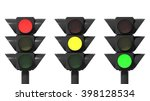 traffic lights set  isolated on ... | Shutterstock . vector #398128534