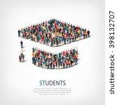 students people crowd | Shutterstock .eps vector #398132707