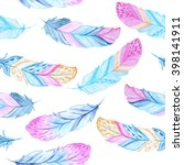 seamless pattern with colorful... | Shutterstock . vector #398141911