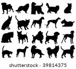 Stock vector dogs and cats 39814375