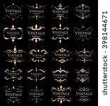 vector set of calligraphic...   Shutterstock .eps vector #398144671