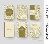 floral ornament vector brochure ... | Shutterstock .eps vector #398151511