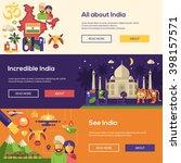 welcome to india travel website ... | Shutterstock .eps vector #398157571