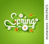 fresh spring background poster... | Shutterstock .eps vector #398159671