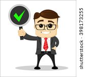 manager character smiling and... | Shutterstock .eps vector #398173255