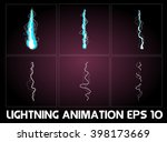 lightning animation. game... | Shutterstock .eps vector #398173669
