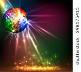 sparkling disco ball. night... | Shutterstock .eps vector #398175415