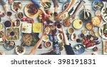 friends happiness enjoying... | Shutterstock . vector #398191831