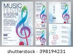 set of templates with poster ... | Shutterstock .eps vector #398194231