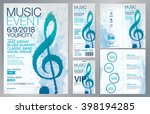set of templates with poster ... | Shutterstock .eps vector #398194285