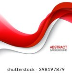abstract smooth color wave .... | Shutterstock . vector #398197879