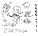 the professions farmer in... | Shutterstock .eps vector #398201281