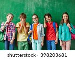 joyful kids | Shutterstock . vector #398203681
