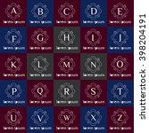 vintage logo template set.... | Shutterstock .eps vector #398204191
