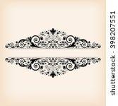 vector vintage floral ... | Shutterstock .eps vector #398207551