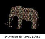 elephant designed using...   Shutterstock .eps vector #398216461
