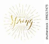 spring illustration | Shutterstock .eps vector #398217475