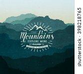 mountain adventure lettering | Shutterstock .eps vector #398218765