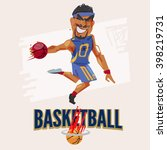 basketball player jumping to... | Shutterstock .eps vector #398219731