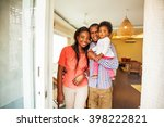 adorable african family in... | Shutterstock . vector #398222821