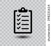 checklist icon. one of set web... | Shutterstock .eps vector #398231614