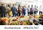 brunch choice crowd dining food ... | Shutterstock . vector #398231767