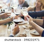 business people party... | Shutterstock . vector #398231971