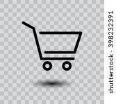shopping cart  linear icon. one ...