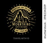 mountain adventure lettering | Shutterstock .eps vector #398234209