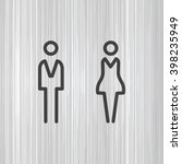 wc   toilet door plate. men and ... | Shutterstock .eps vector #398235949