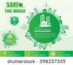save the world  concept of... | Shutterstock .eps vector #398237335