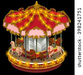 Carousel Horse Isolated On...