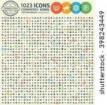 1023 icons commerce shopping... | Shutterstock .eps vector #398243449