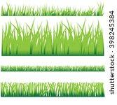 backgrounds of green grass ... | Shutterstock .eps vector #398245384
