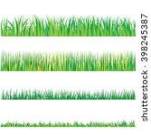 backgrounds of green grass ... | Shutterstock .eps vector #398245387