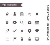 web icons set vector.silhouette. | Shutterstock .eps vector #398251591