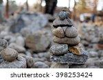 stones balance zen  | Shutterstock . vector #398253424