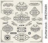 set of a swirl vintage frames   Shutterstock .eps vector #398254684