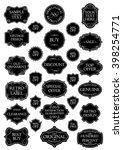 black set retro label | Shutterstock .eps vector #398254771