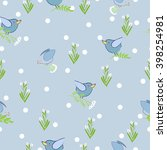 vintage vector seamless pattern ... | Shutterstock .eps vector #398254981