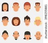 Cute Cartoon People Face....