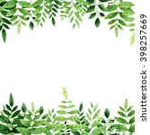 a template of a postcard with a ... | Shutterstock . vector #398257669