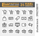 set of e commerce and online... | Shutterstock .eps vector #398258899