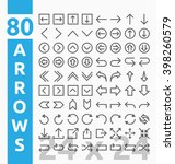 80 arrow outline icons for user ... | Shutterstock .eps vector #398260579