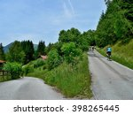 austrian alps cyclists on the... | Shutterstock . vector #398265445