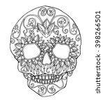 decorated skull for day of the... | Shutterstock .eps vector #398266501
