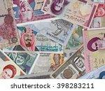 middle east money  heap of... | Shutterstock . vector #398283211