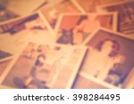 defocused blur of scattered old ... | Shutterstock . vector #398284495