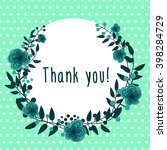 thank you vector postcard ... | Shutterstock .eps vector #398284729